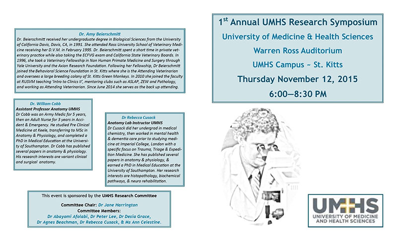 Program: Courtesy of UMHS Research Committee