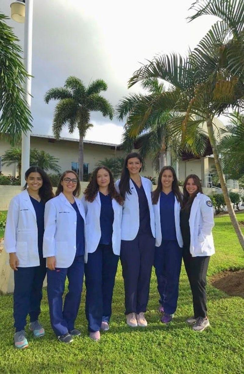 UMHS AMWA: (left to right) Laura Mercedes, Katiushka Gulliani, Marilyn Perez, Nina Madjer, Alexa Datko, Emily Vazquez. Photo: Courtesy of UMHS AMWA