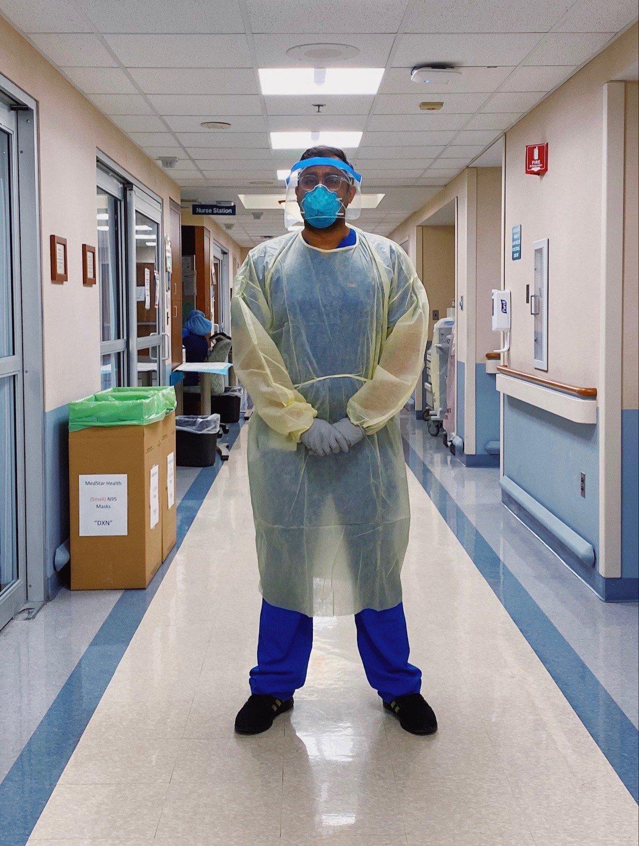 Arjun Kanwal in PPE