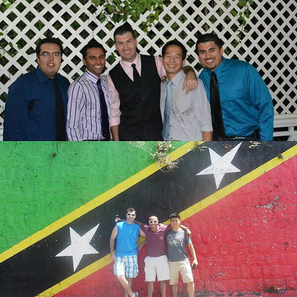 DR. COJANU & FRIENDS: In St. Kitts. Photo: Courtesy of Dr. Alexandru Cojanu