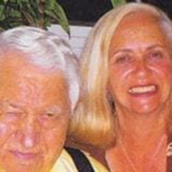 DR. ROSS & NANCY: Nancy Ross (right) with her father, the late Dr. Robert Ross, founder of UMHS