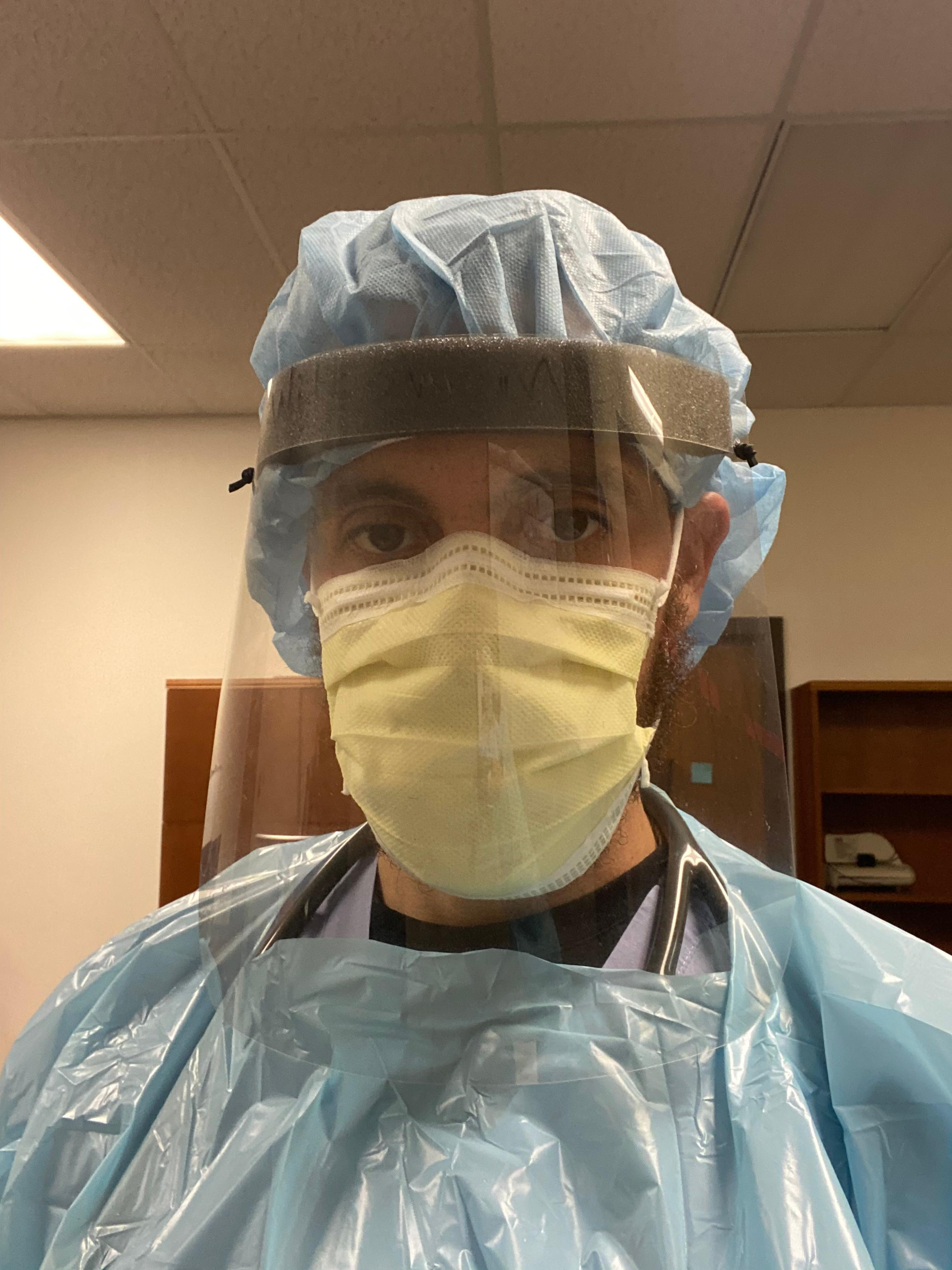 Dr Asher in PPE