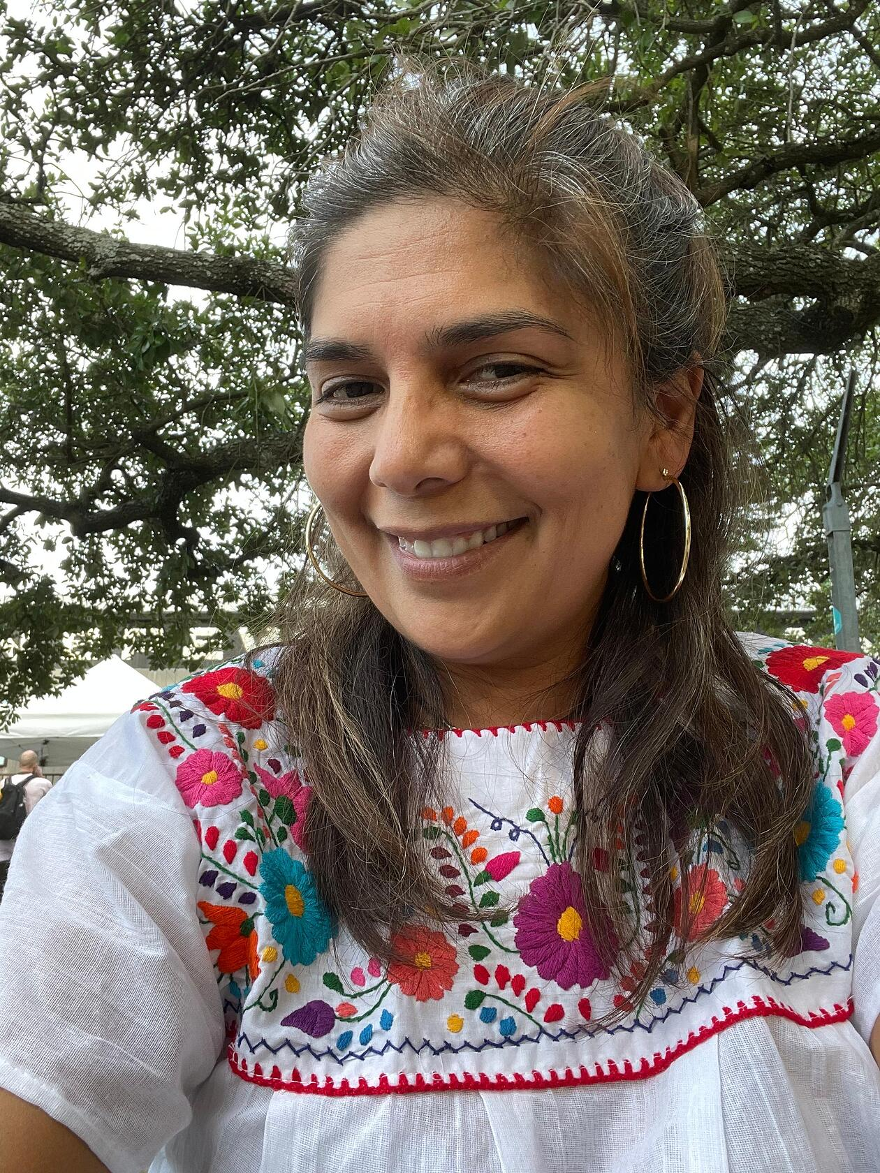 Dr Esparza Young in Mexican dress