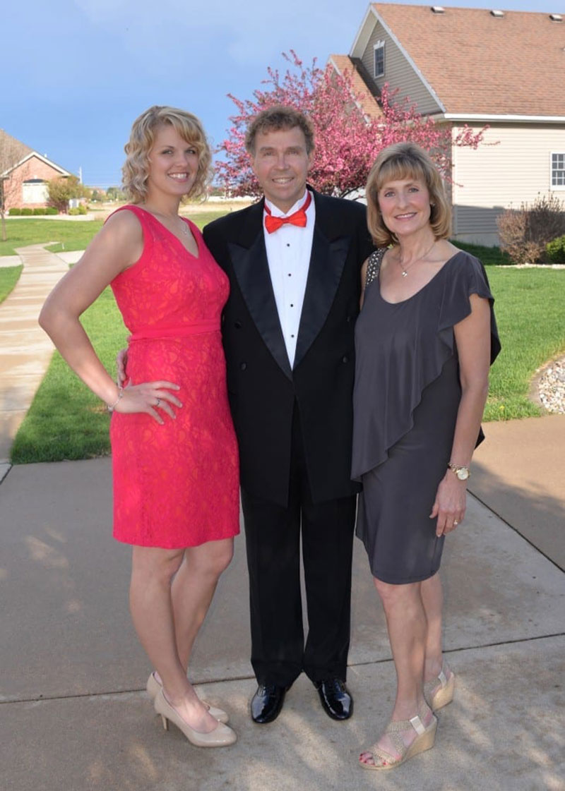 'With my parents, Tom & Kathy, for Red Cross Evening of the Stars 2016.' Photo: Courtesy of Dr. Elizabeth Nielsen