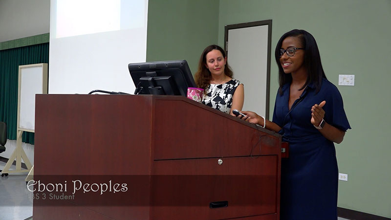 Eboni Peoples at the 3rd UMHS Research Symposium. Photo: Ian Holyoak