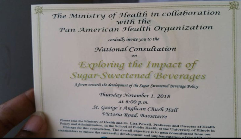 Invitation to event. Photo: Courtesy of Because We Care