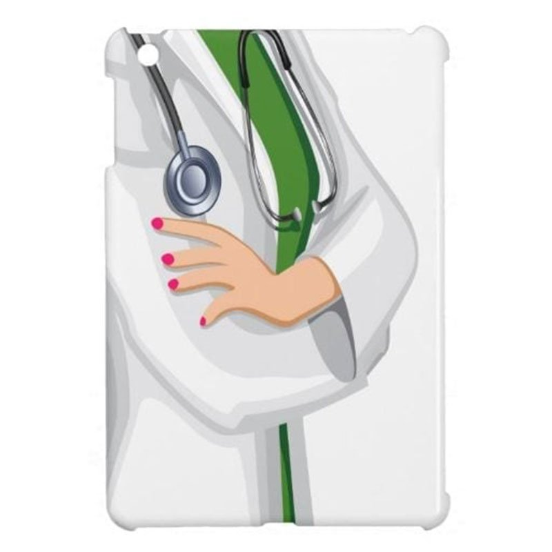 FEMALE DOCTOR IPAD CASE: Protects iPad. iPhone case also available. Photo: Zazzle.com