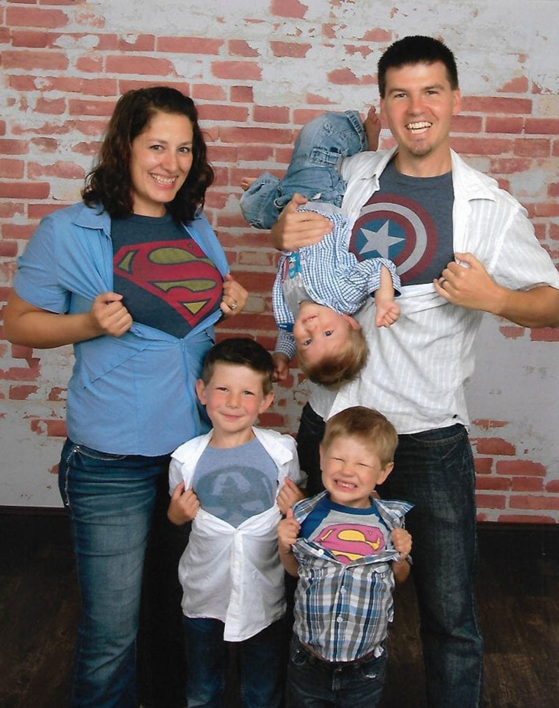 SUPER FAMILY: Dr. Nick Kessener with his wife & three children. He says family support has been 'phenomenal & I'm incredibly blessed to have them through the whole process.' Photo: Courtesy of Dr. Kessener