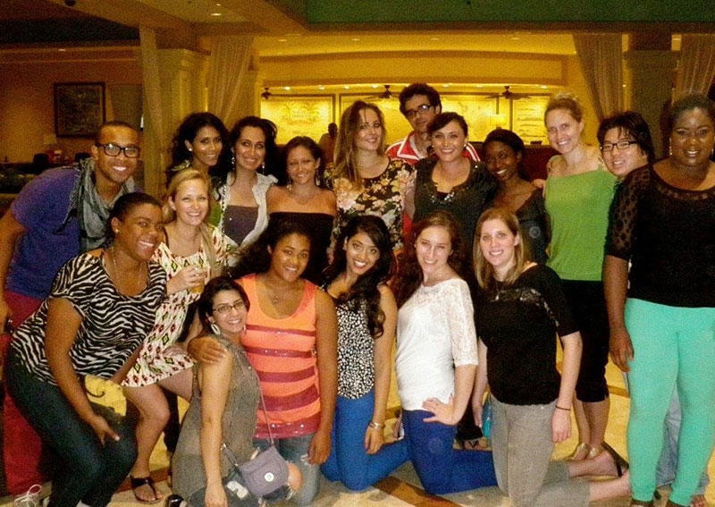 'Out with friends to commemorate the end of the semester, St. Kitts, April 2013.' Photo: Courtesy of Dr. Miriam Bernstein