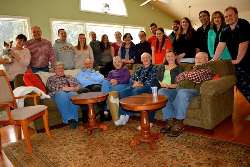 'My Papa's 86th birthday, with just a small fraction of my extended family, February 2014.' Photo: Courtesy of Dr. Miriam Bernstein