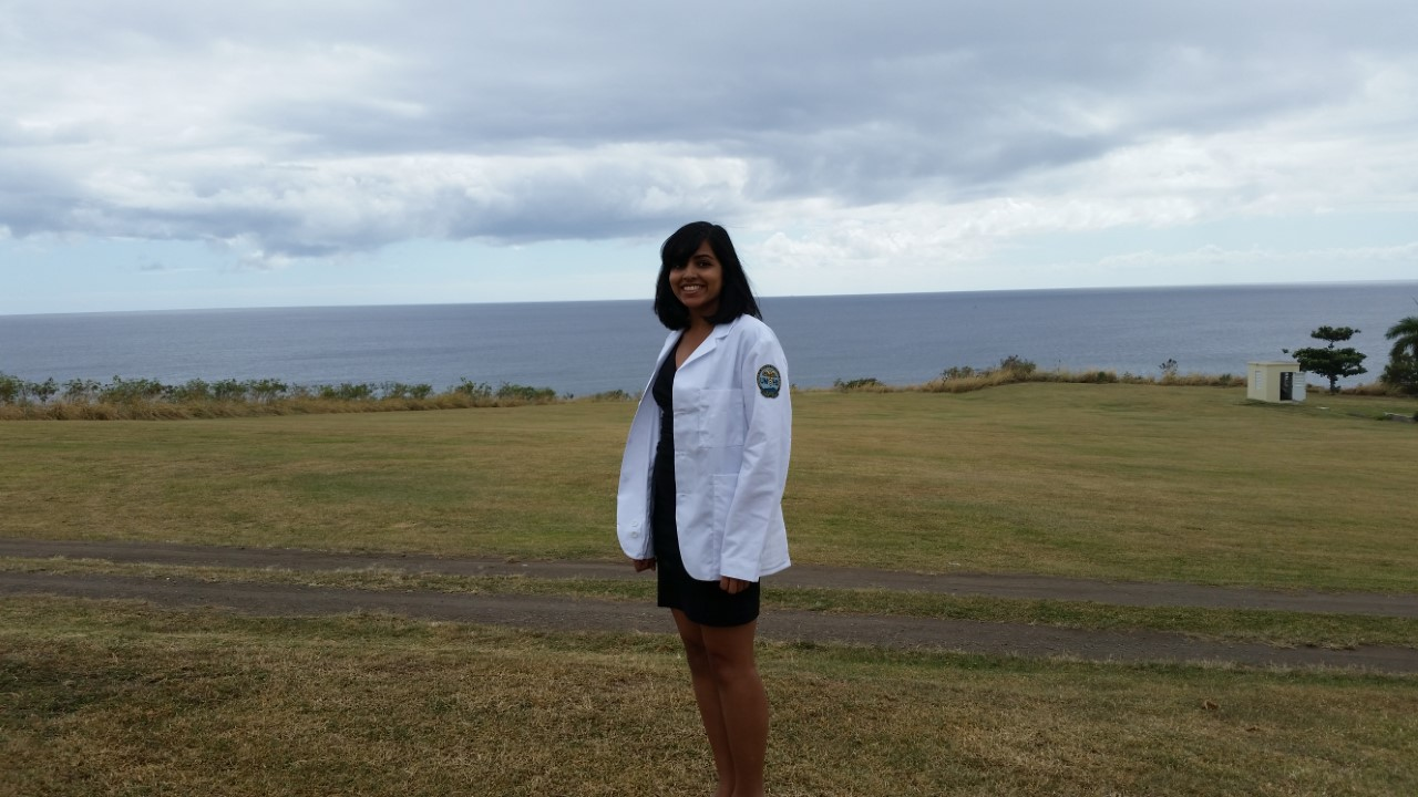 Sarah Singh White Coat Ceremony outdoor pic