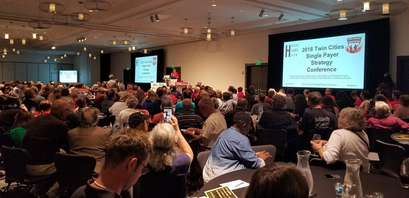 SINGLE-PAYER IS POPULAR AMONG MILLENNIAL & GENERATION Z FUTURE DOCTORS: Fans of single-payer healthcare gathered at the 2018 Twin Cities Single-Payer Strategy Conference this past June 2018 in Minneapolis. Photo: Courtesy of Healthcare-NOW!