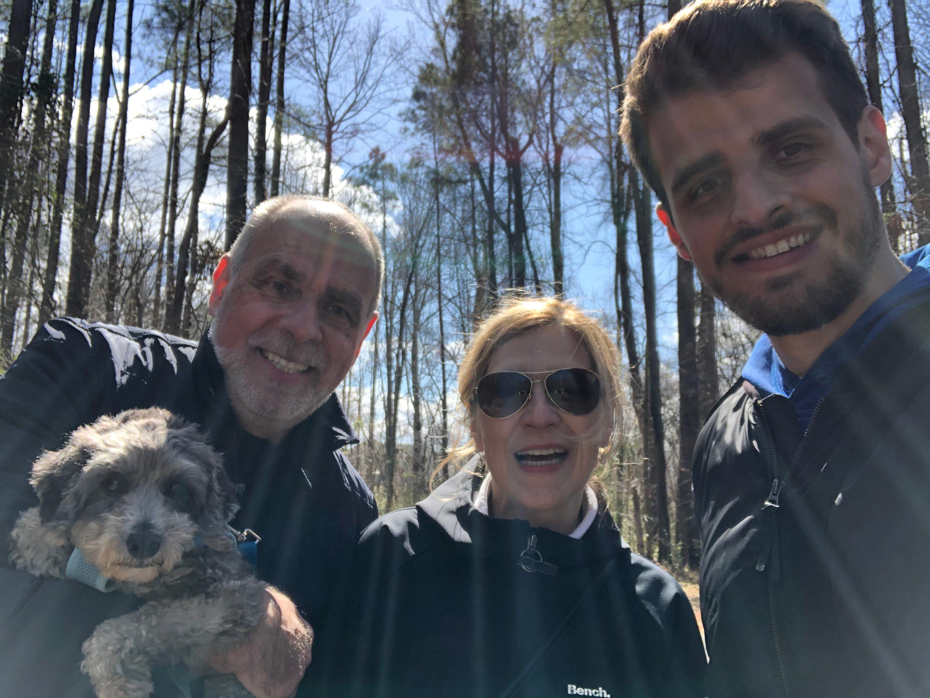 Tom Kowalski-Outside with Parents