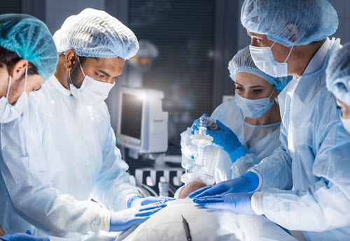 anesthesiologist in operating room