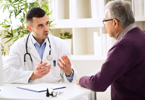 endocrinology doctor talking with patient