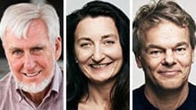 2014 Nobel Prize Winners in Physiology or Medicine: John O'Keefe, May-Britt Moser, Edvard Moser. Photos: UCL-Geir-Mogen-NTNU.