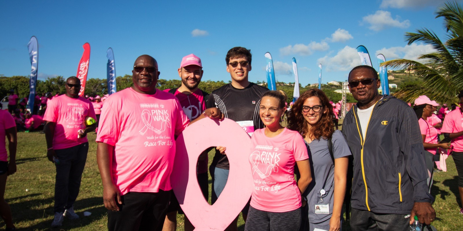 AMSA members with Prime Minister duirng Pink Walk