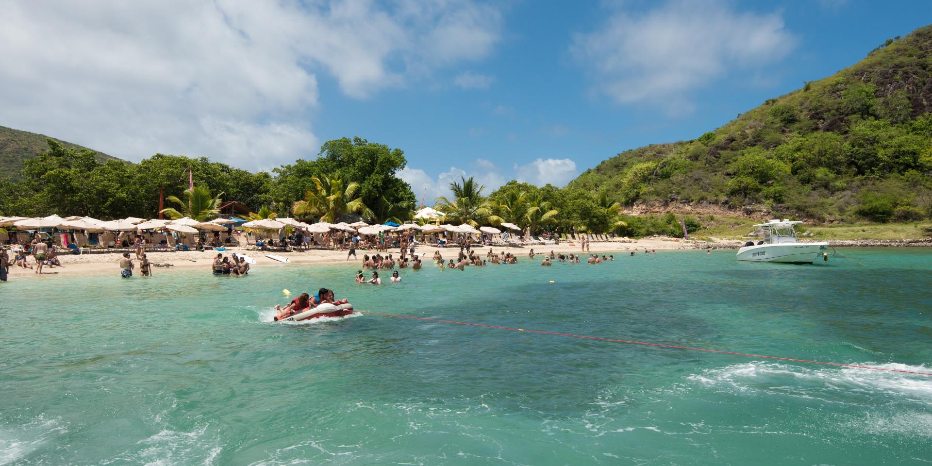Beach Scene in St Kitts