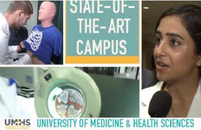 medical school in the caribbean with caribbean school of medicine student discussing medical schools