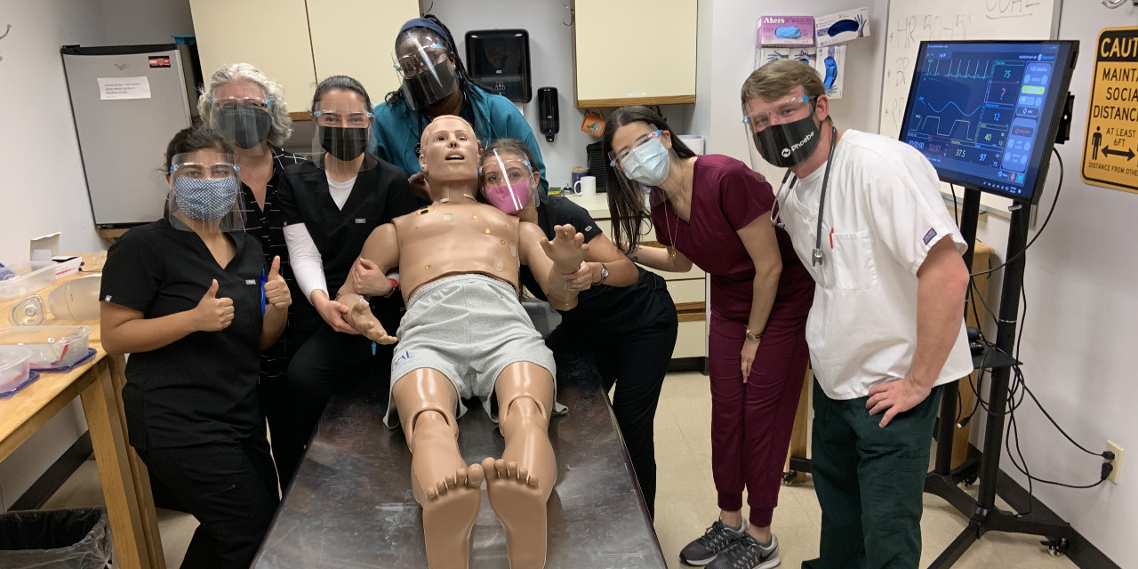 UMHS clinical students with Harvey.