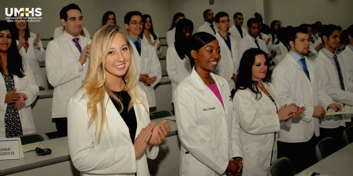 White coat ceremony from University of Medicine and Health Sciences